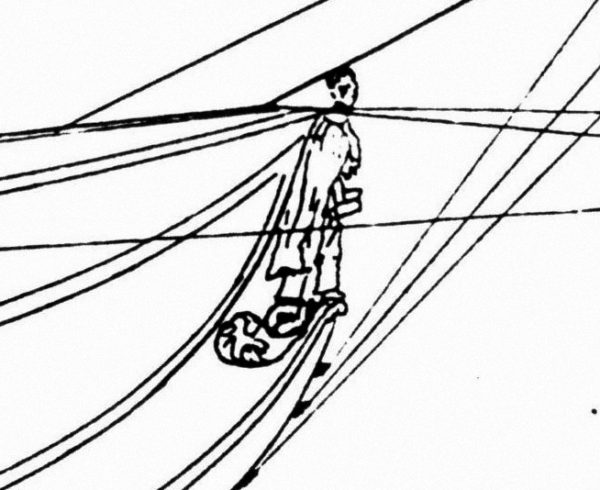 Drawing of 1847 Andrew Jackson figurehead.
